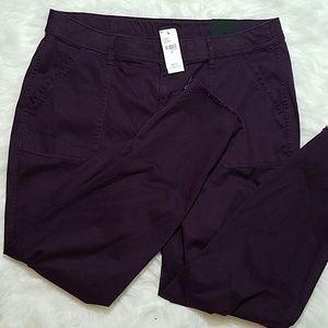 NWT Lane Bryant Mid Rise Skinny Purple Pants